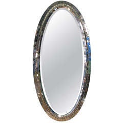 Bevelled Mirrored Edge Oval Mirror