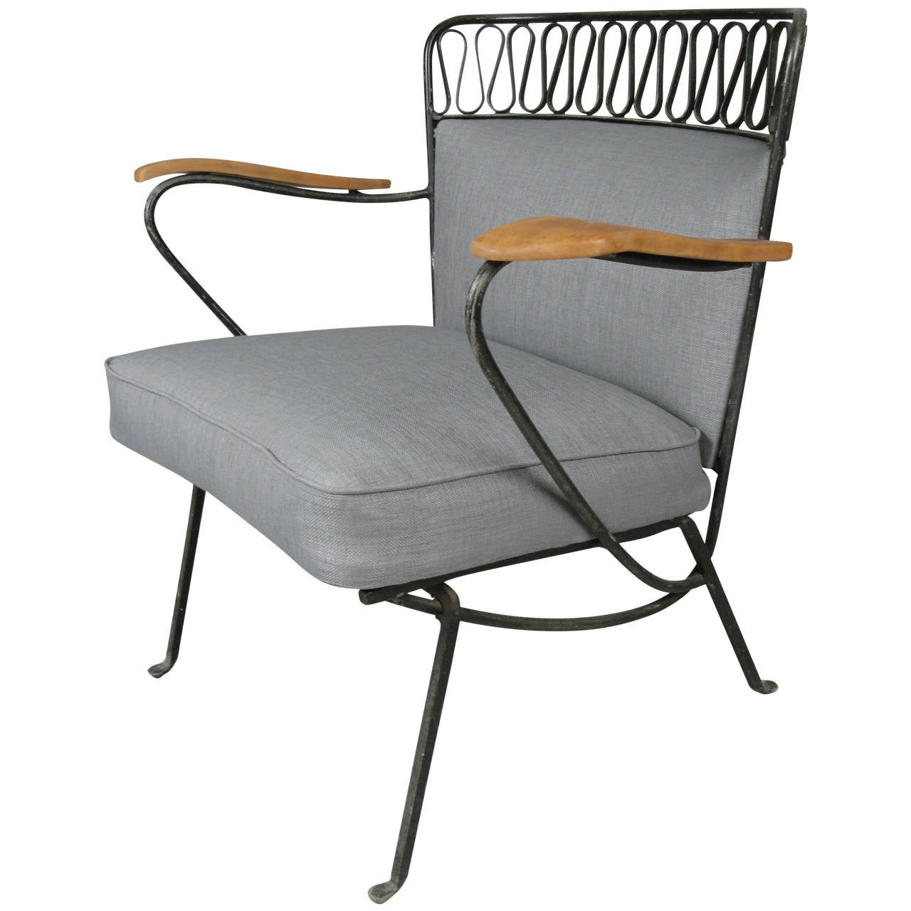 Rare Iron Lounge Chair by Maurizio Tempestini for Salterini at 1stdibs