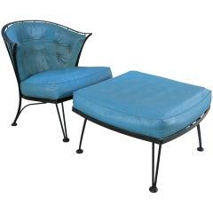 Vintage 'Pinecrest' Lounge Chair & Ottoman