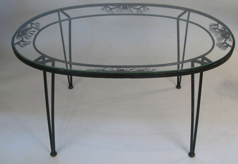 Vintage 39 Pinecrest 39 Wrought Iron Dining Set By Woodard At 1stdibs