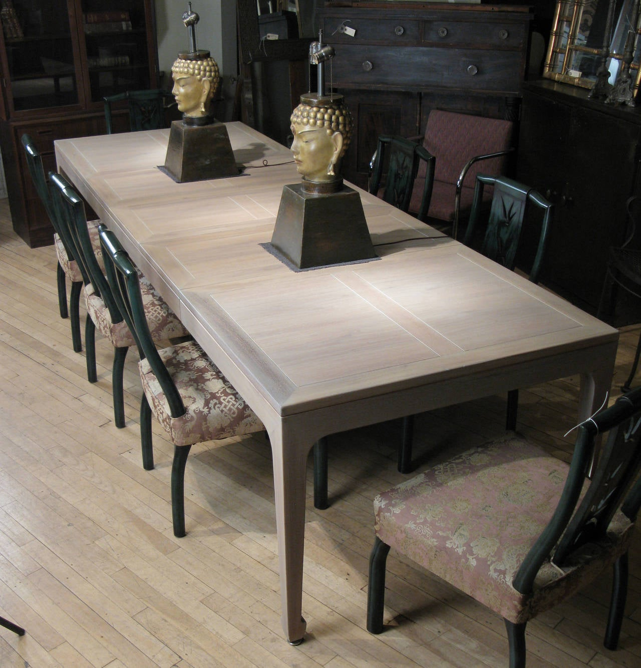 Michael taylor cyprus tree trunk dining table at 1stdibs - Classic Bleached Walnut Extension Dining Table By Michael Taylor For Baker 2