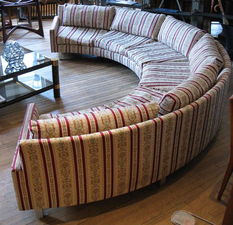 Large Circular Sectional Sofas: Semi Circular Curved Sectional Sofa By Milo Baughman At
