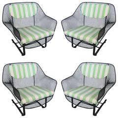 1950's 'Sculptura' Garden Lounge Chairs by Russell Woodard