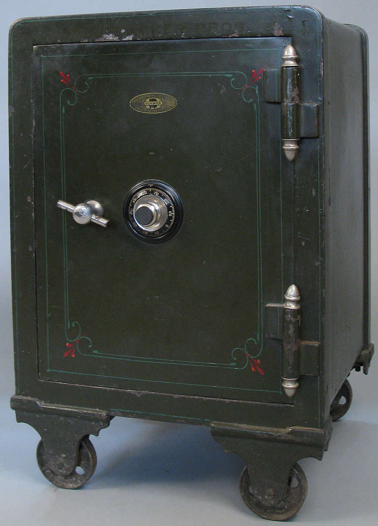 Antique cast iron combination safe at stdibs