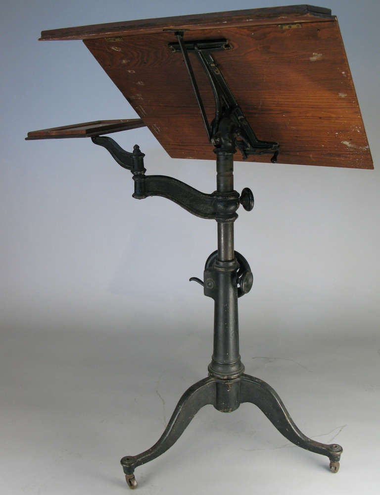 cast iron drafting table base 3