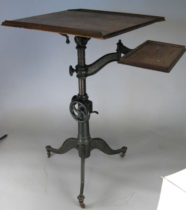 Antique Cast Iron Industrial Drafting Table At 1stdibs