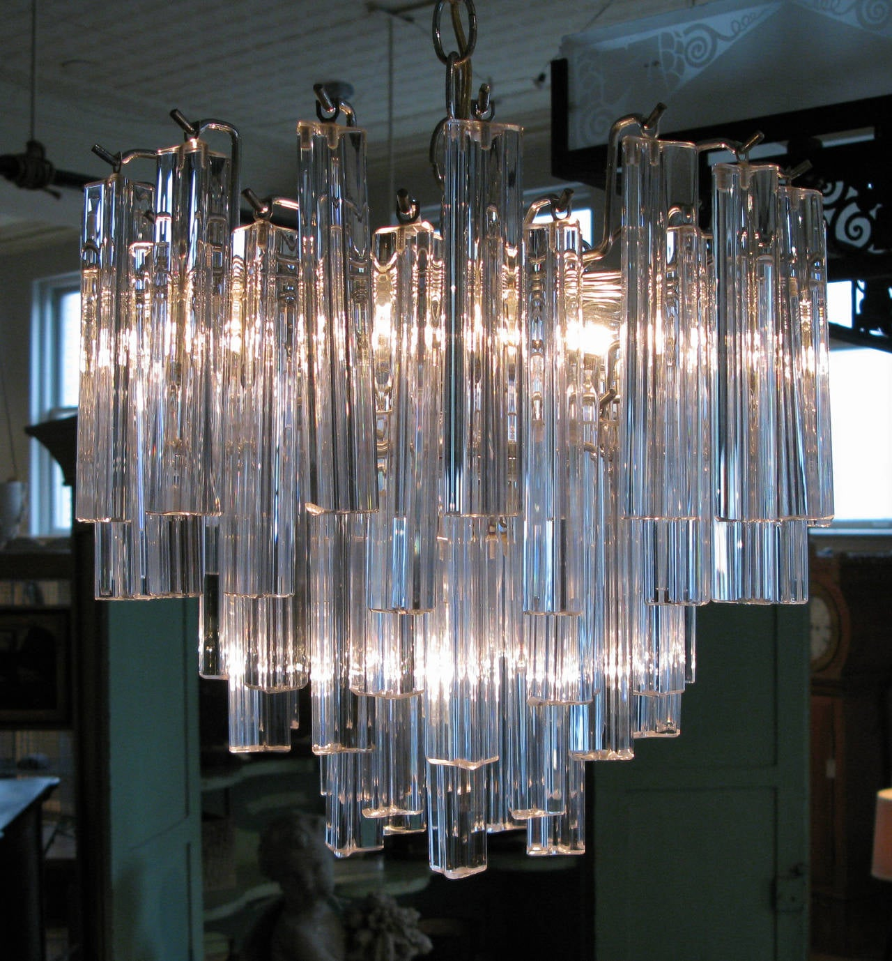modern italian murano glass chandelier by camer at 1stdibs. Black Bedroom Furniture Sets. Home Design Ideas