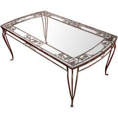 Vintage Salterini Large Iron Garden or Patio Table