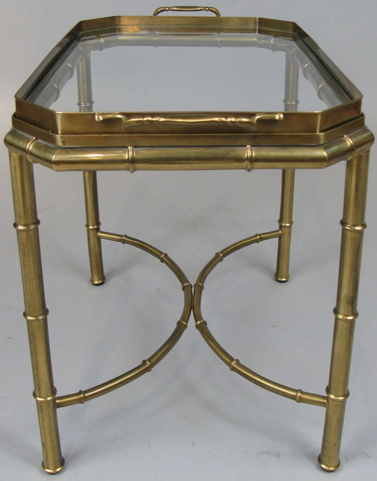 Vintage Brass And Bamboo Tray Table By Mastercraft At 1stdibs