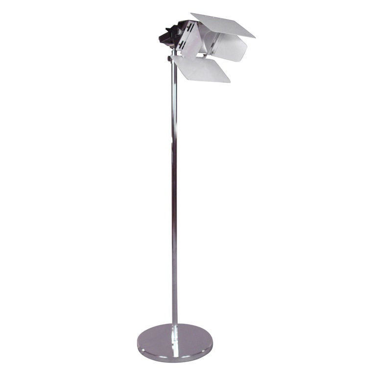 Mid century italian chrome floor lamp for sale at 1stdibs for Tecton chrome floor lamp