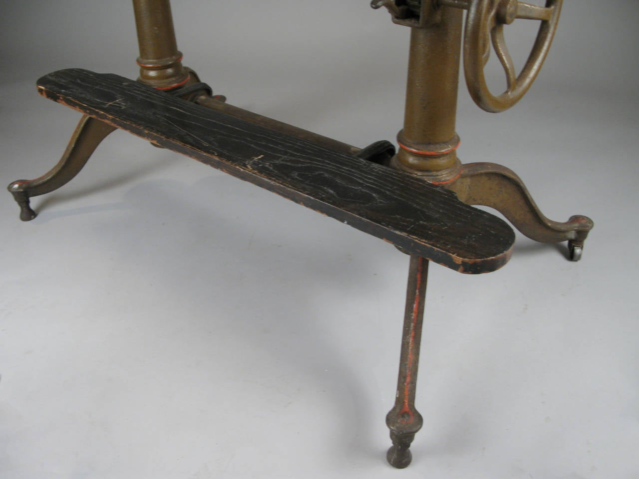 Antique Industrial Cast Iron Adjustable Drafting Table At