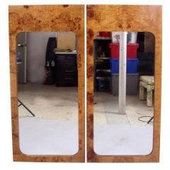 Pair of Mirrors in Burled Elm