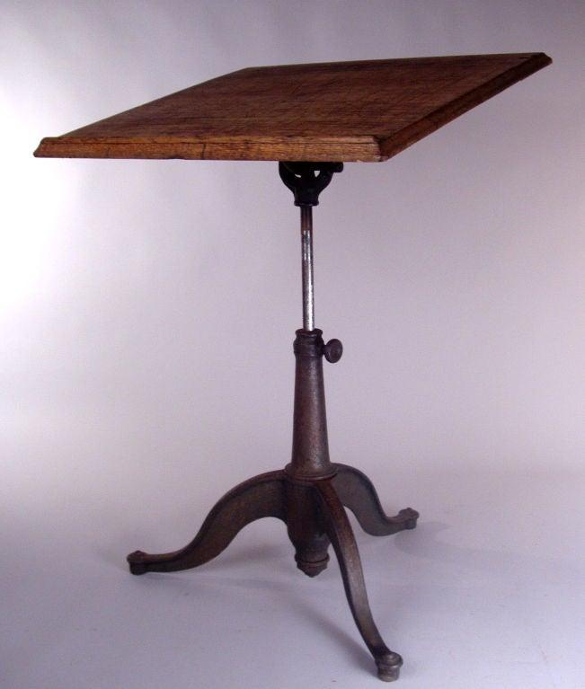 Antique Adjustable Tilt Top Drafting Table At 1stdibs