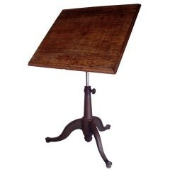Antique Adjustable Tilt Top Drafting Table
