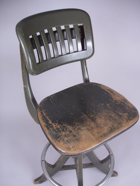 Antique adjustable drafting chair by sikes at 1stdibs
