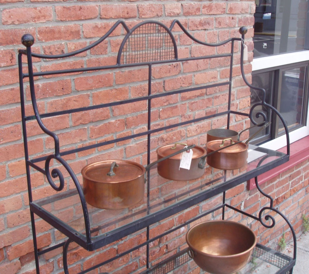 Vintage Iron Baker S Rack By Woodard At 1stdibs