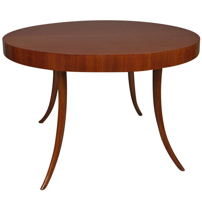 Sabre Leg Extension Dining Table by Robsjohn Gibbings for  : 1224408l from www.1stdibs.com size 768 x 768 jpeg 24kB