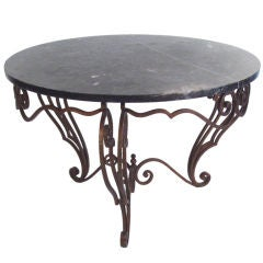 Antique French Iron & Marble table