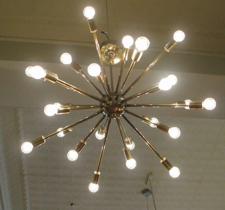 Vintage 1950 S Brass Sputnik Chandelier At 1stdibs