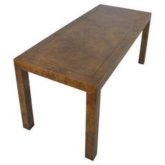 Modern Parsons Console Table in Burled Elm