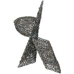 Dynamic Geometric Sculpture in Welded Iron