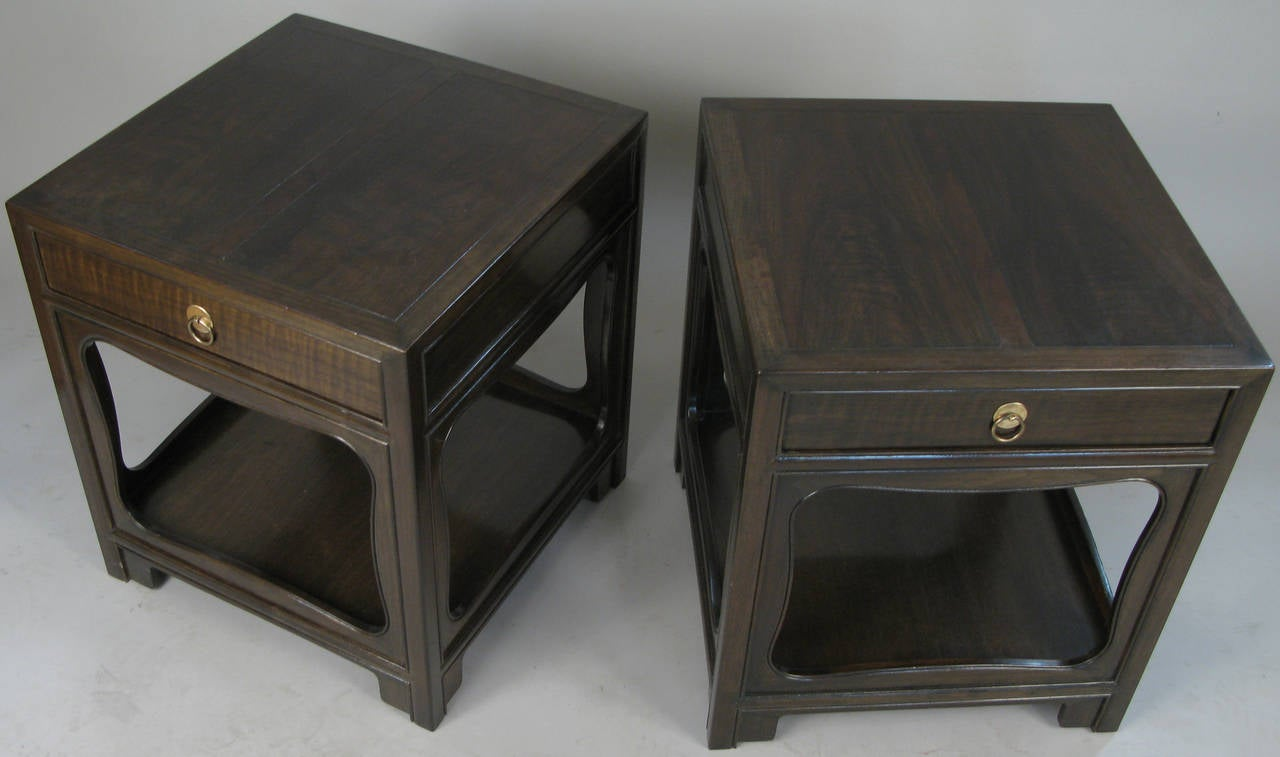 Pair of elegant nightstands by michael taylor for baker at 1stdibs - Elegant types of nightstands ...