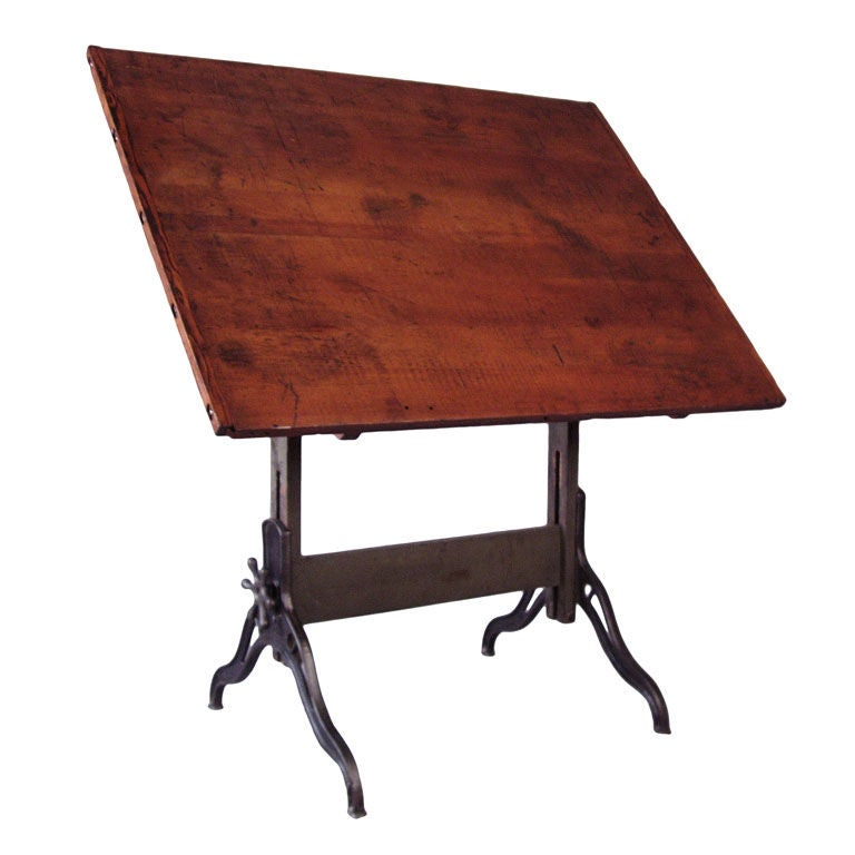 antique cast iron adjustable drafting table at 1stdibs