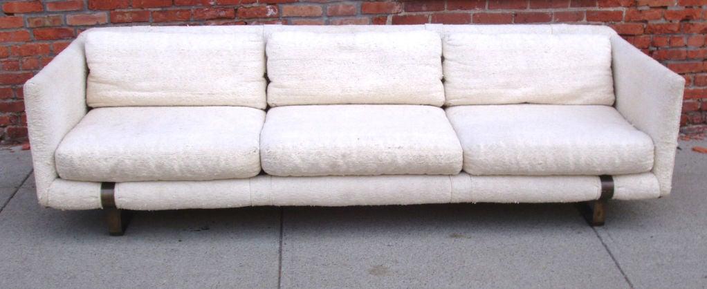 Mid-Century Modern Tuxedo Sofa 4
