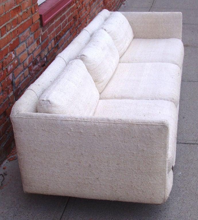 Mid-Century Modern Tuxedo Sofa 6