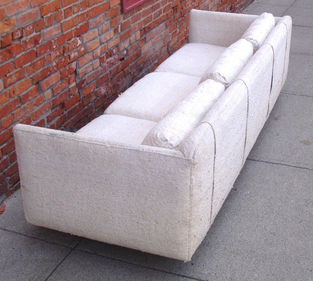 Mid-Century Modern Tuxedo Sofa 7