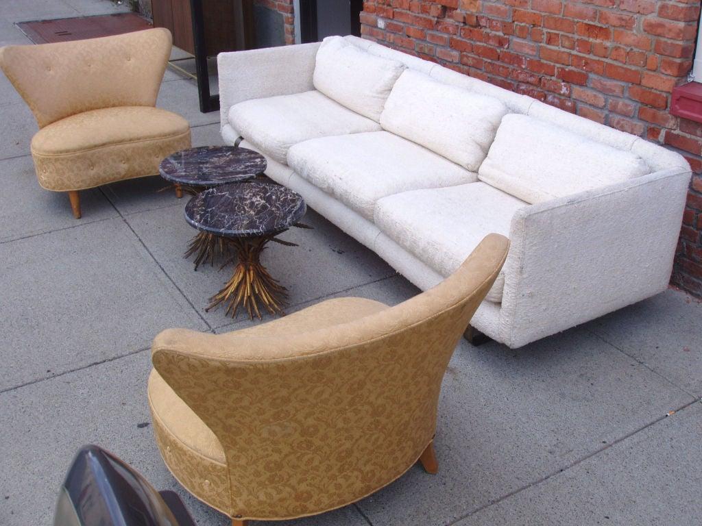 Mid-Century Modern Tuxedo Sofa 8