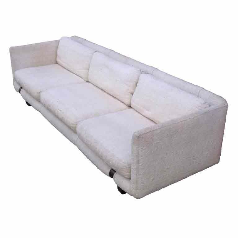 Mid-Century Modern Tuxedo Sofa 1