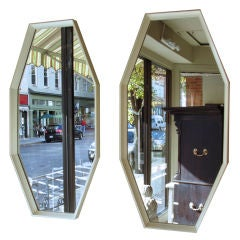 Pair of Octagonal Bevelled Frame Mirrors