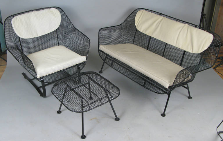 Pair of Classic Sculptura Garden Lounge Chairs by Russell Woodard For Sale 1
