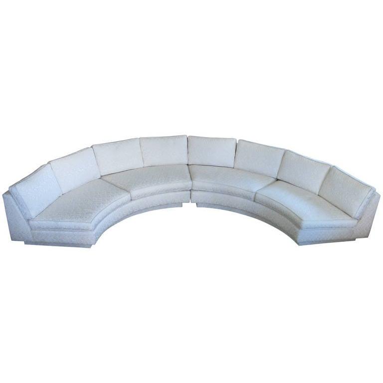 Circular Curved Sectional Sofa By Milo Baughman At 1stdibs