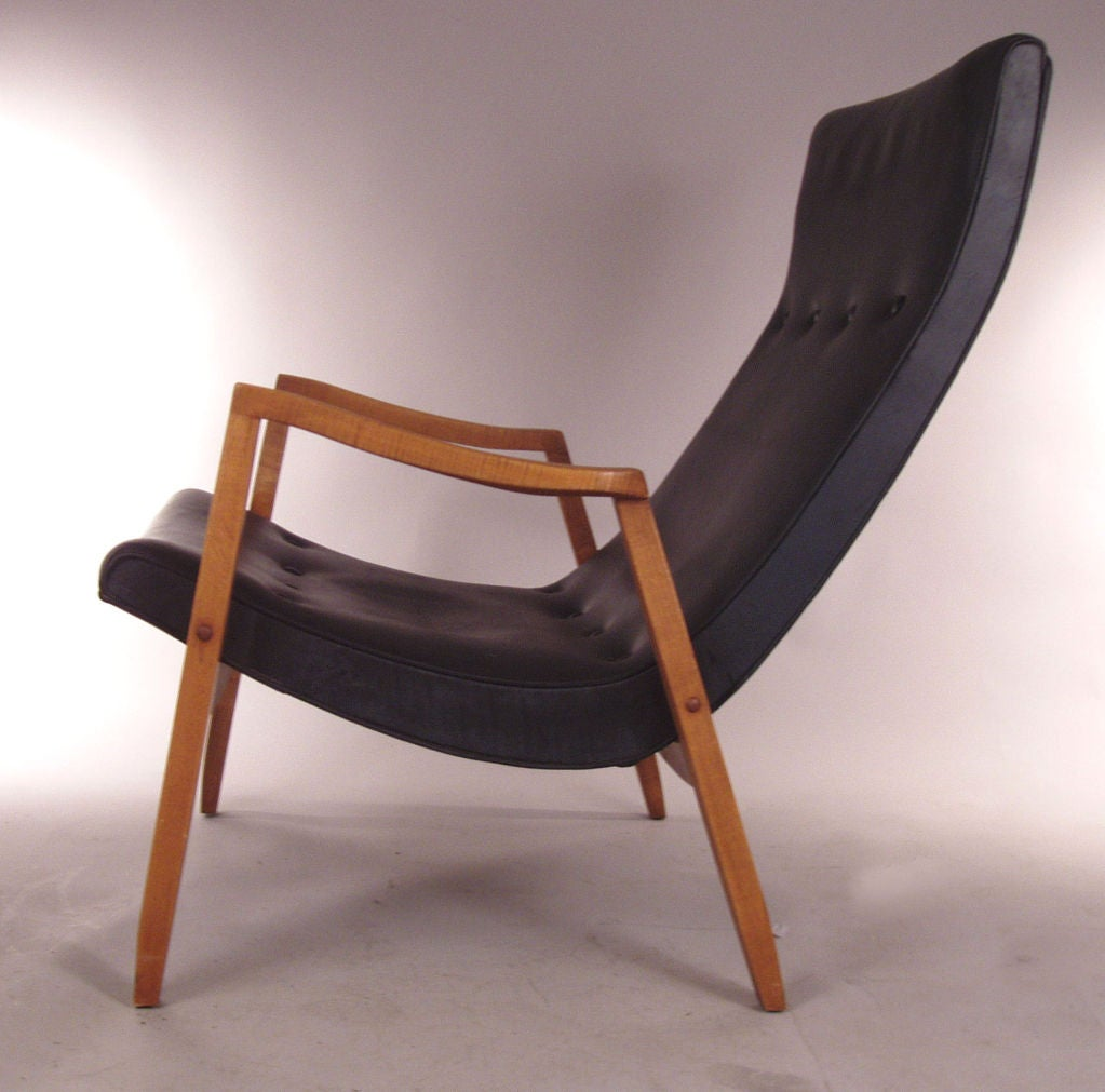 Modern Lounge Chair And Ottoman By Milo Baughman At 1stdibs