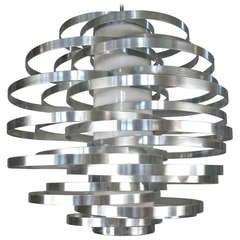 Vintage Italian Spiral Globe Light Fixture by Max Sauze