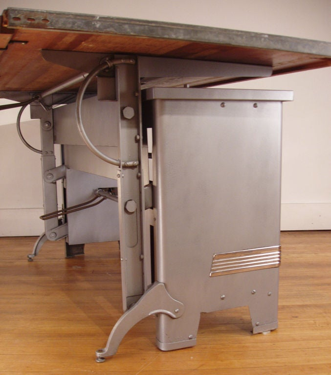 Antique Large Adjustable Drafting Table At 1stdibs