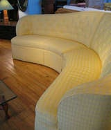 Curved & Button Tufted Sectional Sofa image 6