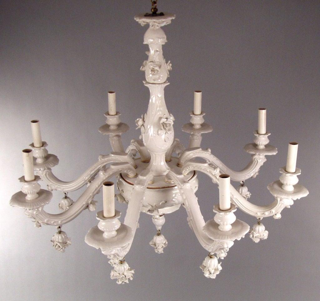 White porcelain chandelier white porcelain chandelier at 1stdibs vintage italian white porcelain blanc de chine chandelier white porcelain chandelier arubaitofo Gallery