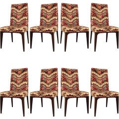 Set of 8 High Back Dining Chairs by Pace Collection