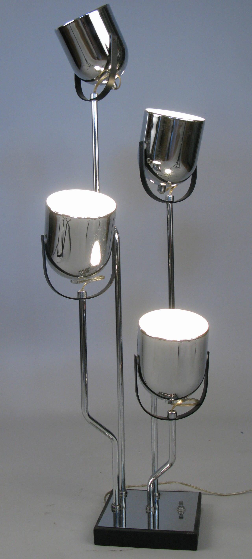 Modern Italian Four Light Table Lamp by Reggiani at 1stdibs