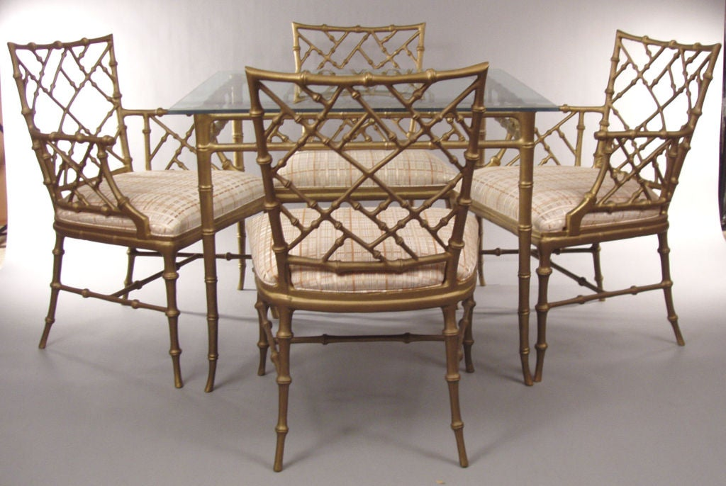 Merveilleux A Beautiful Set Of Bamboo Motif Cast Metal Furniture Designed By Phyllis  Morris. The Square