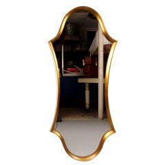 Gold Leaf Hollywood Regency 'Hourglass' Mirror