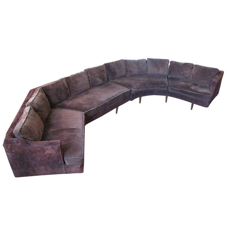 Large Circular Sectional Sofas: Large 1960s Curved Sectional Sofa At 1stdibs
