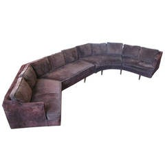 Large 1960s Curved Sectional Sofa