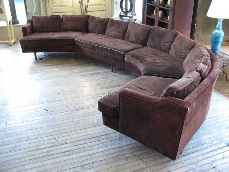Large 1960s Curved Sectional Sofa At 1stdibs