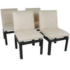 Set of Four 'Far East' Chairs by Michael Taylor for Baker