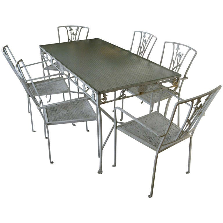 Vintage Iron Seashell and Seahorse Dining Table and Chairs  : 969404l from www.1stdibs.com size 768 x 768 jpeg 47kB