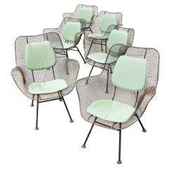 Russell Woodard Sculptura Mesh Garden Chairs & Table